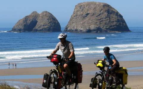 Cape Meares bicycle touring.