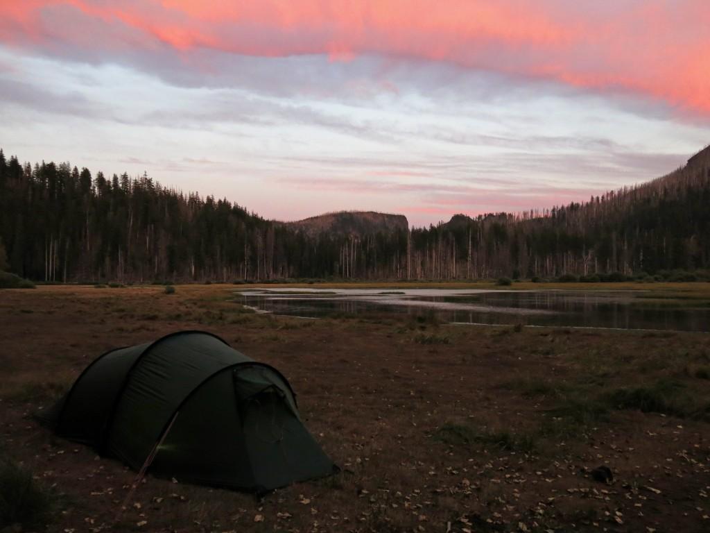 Santiam Pass campsite