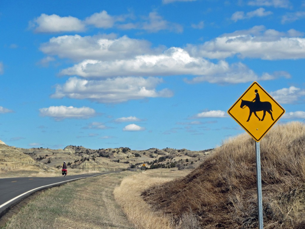 We rode our steel horses across the badlands of western North Dakota.