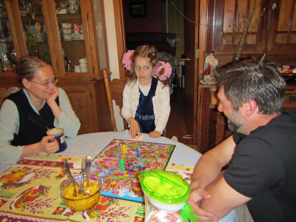 The little girl of our hosts in Richardton challenged us to a game of Candyland.