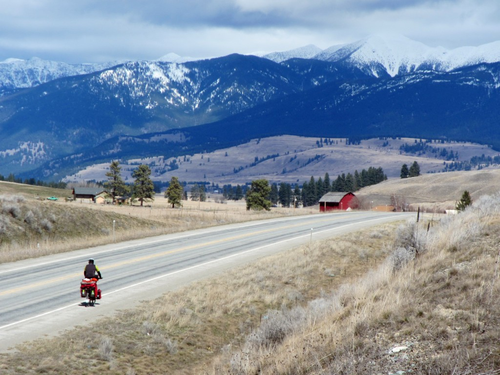 Doug rolling over the final few hills in Tobacco Valley to Eureka, MT.