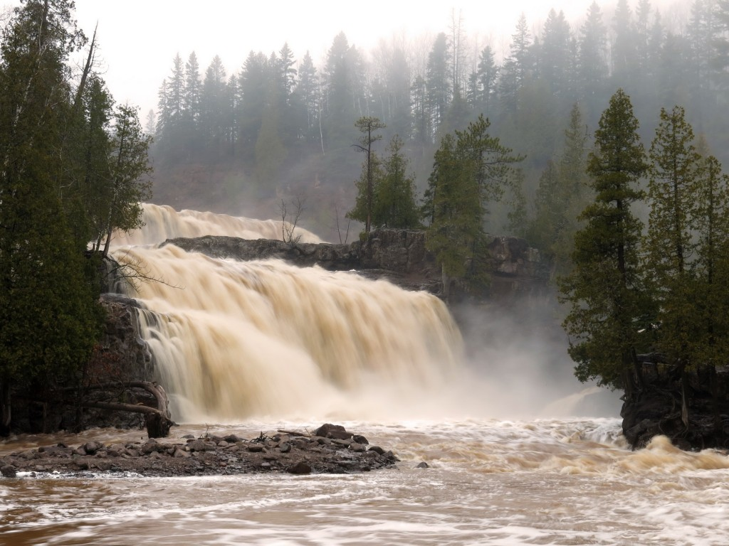 The amount of water flowing out of the MN interior was positively mind-boggling.