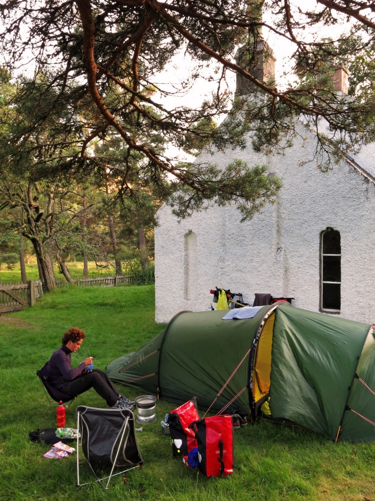 We camped for the night behind this little chapel... and waged war against the midges.