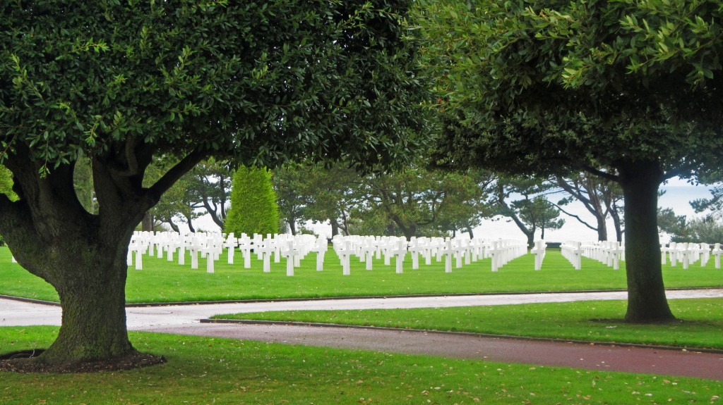 """Think not only upon their passing. Remember the glory of their spirit."" - USA Military Cemetery, Normandy, France"