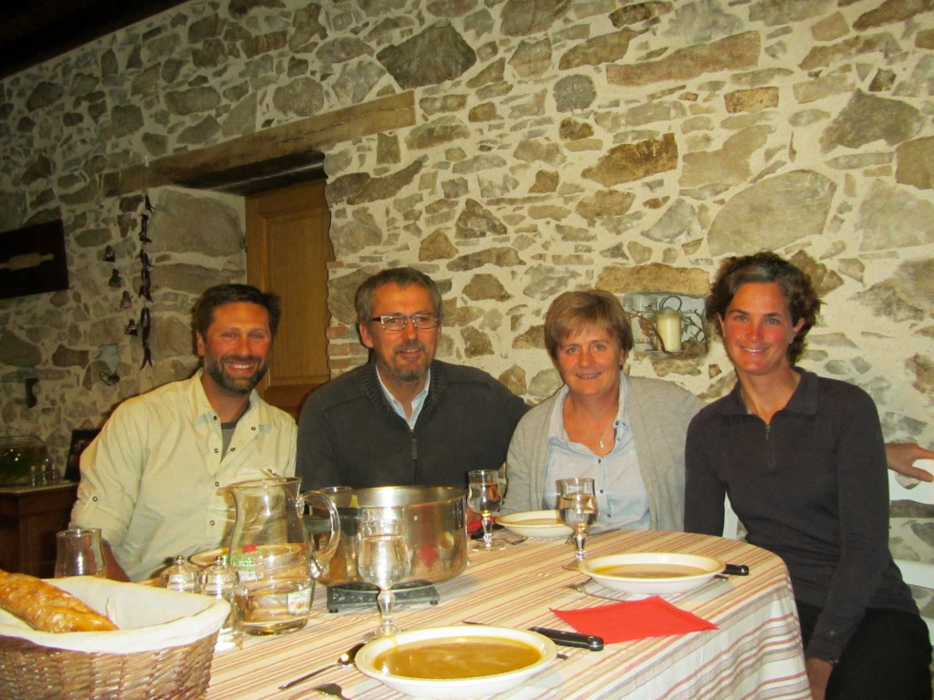 We enjoyed a wonderful dinner with Yves and Francoise at their home in the countryside.