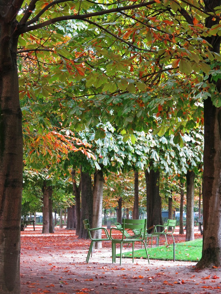 Gardens along the Champs Elysees have plenty of spots to relax.