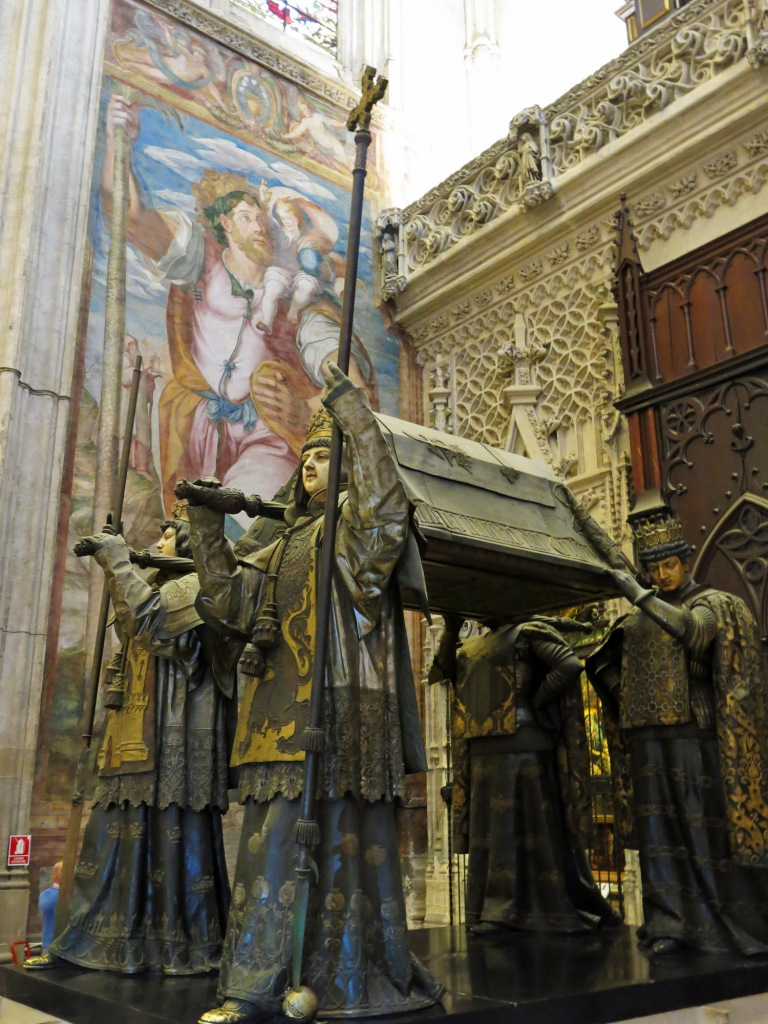 The tomb of Christopher Columbus, the famed Spanish explorer who looked for India and ended up in the Bahamas.