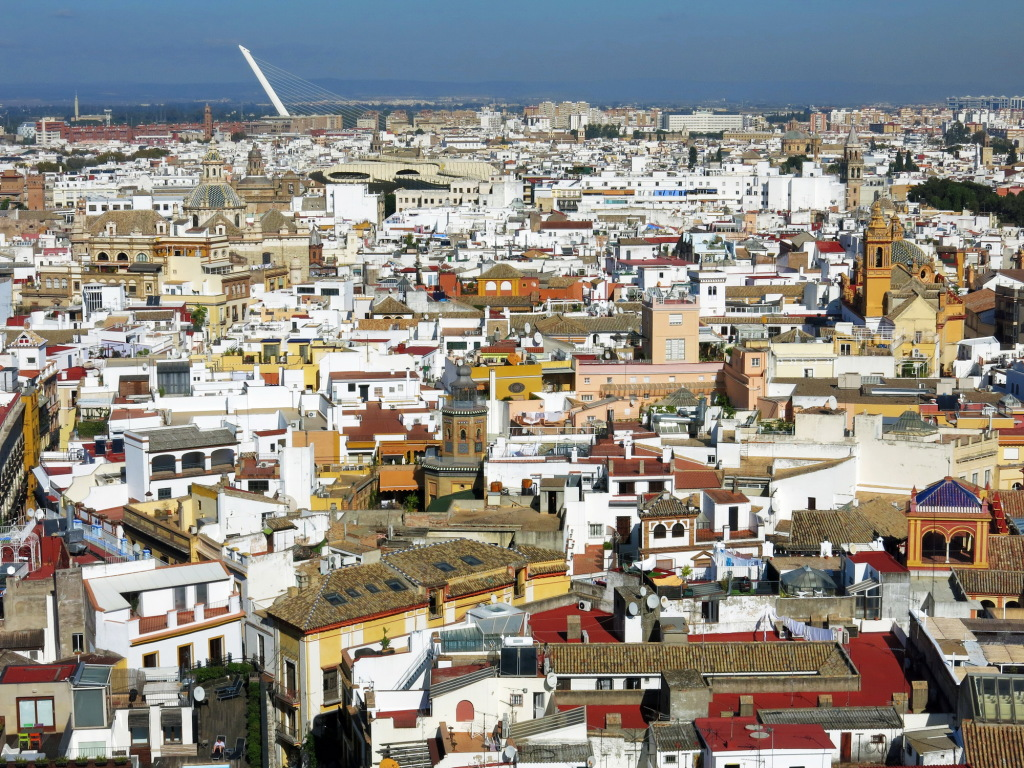 Seville, as seen from atop the cathedral's massive once-Muslim tower.