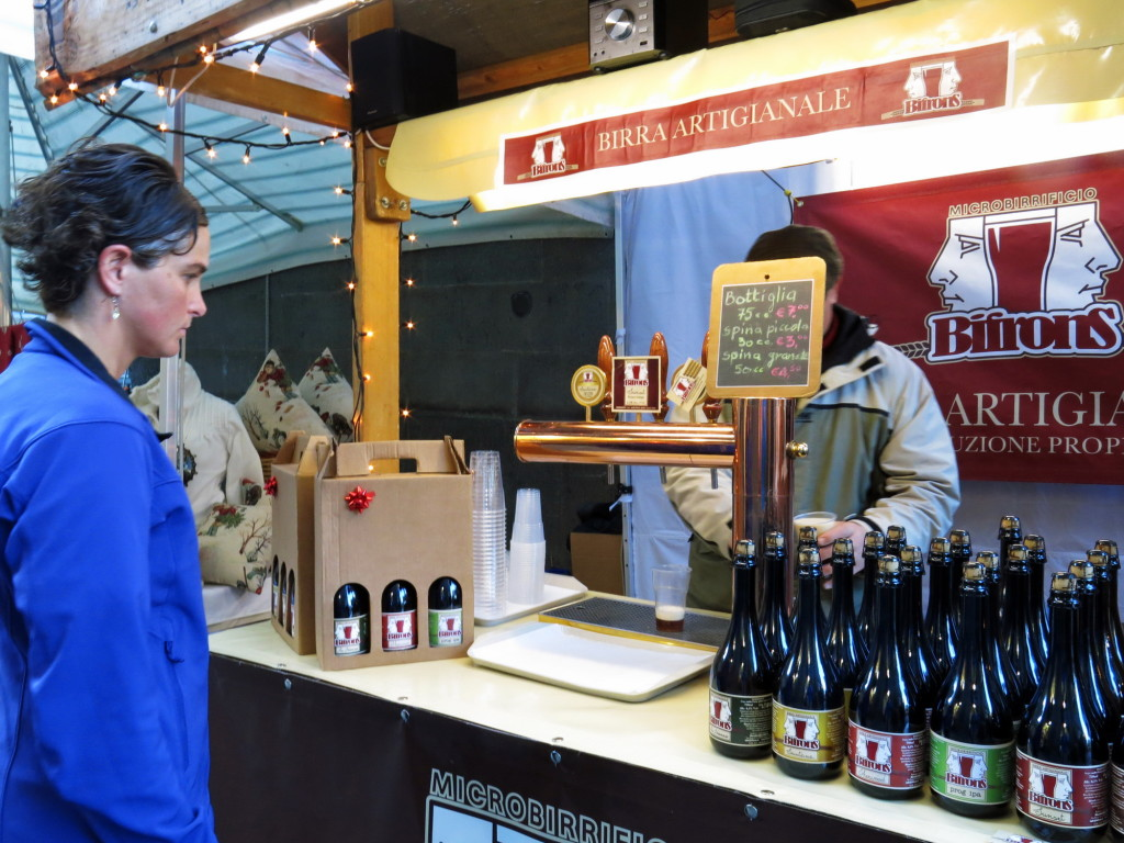 Christmas market street vendor in Orvieto with some pretty good beer (Deliver us from Peroni, Amen!)