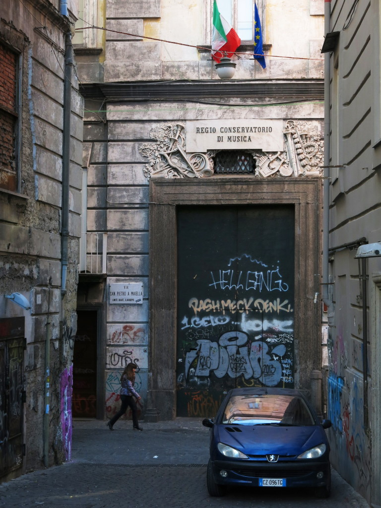 The historic quarter is home to a large number of churches and tremendous amounts of graffiti.