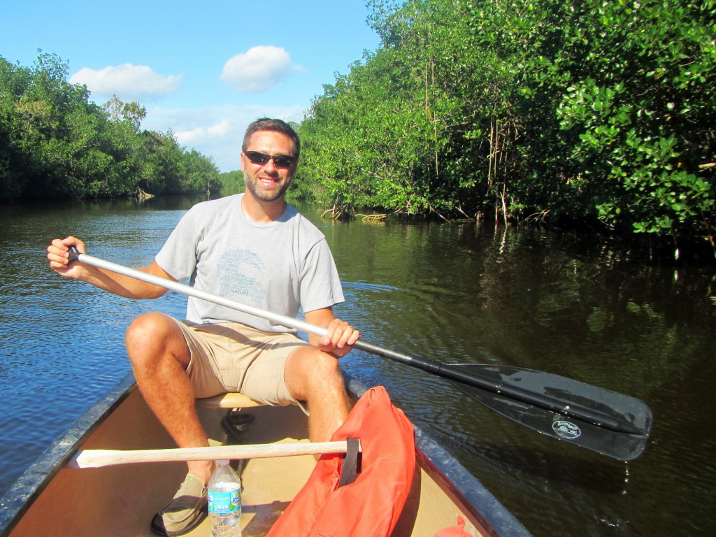 On our way back to the docks after a spontaneous 3-hour canoe trip in the Everglades.