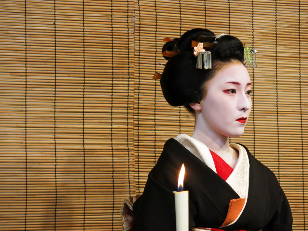 Simply stunning display of makeup, dress, and quiet subtlety in everything these women do. The tea ceremony at Miyako-Odori was certainly worth seeing.