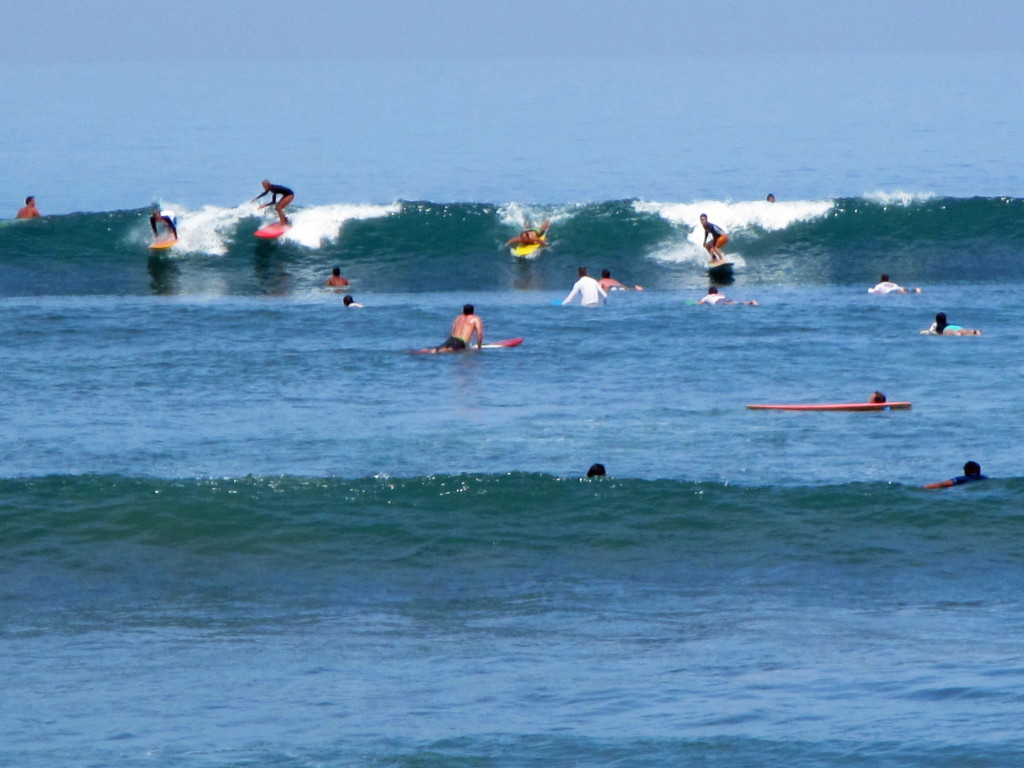 Batu Bolong is a very crowded break, where surfing etiquette is also on vacation. Not for agoraphobes or aggro surfers who can't share.
