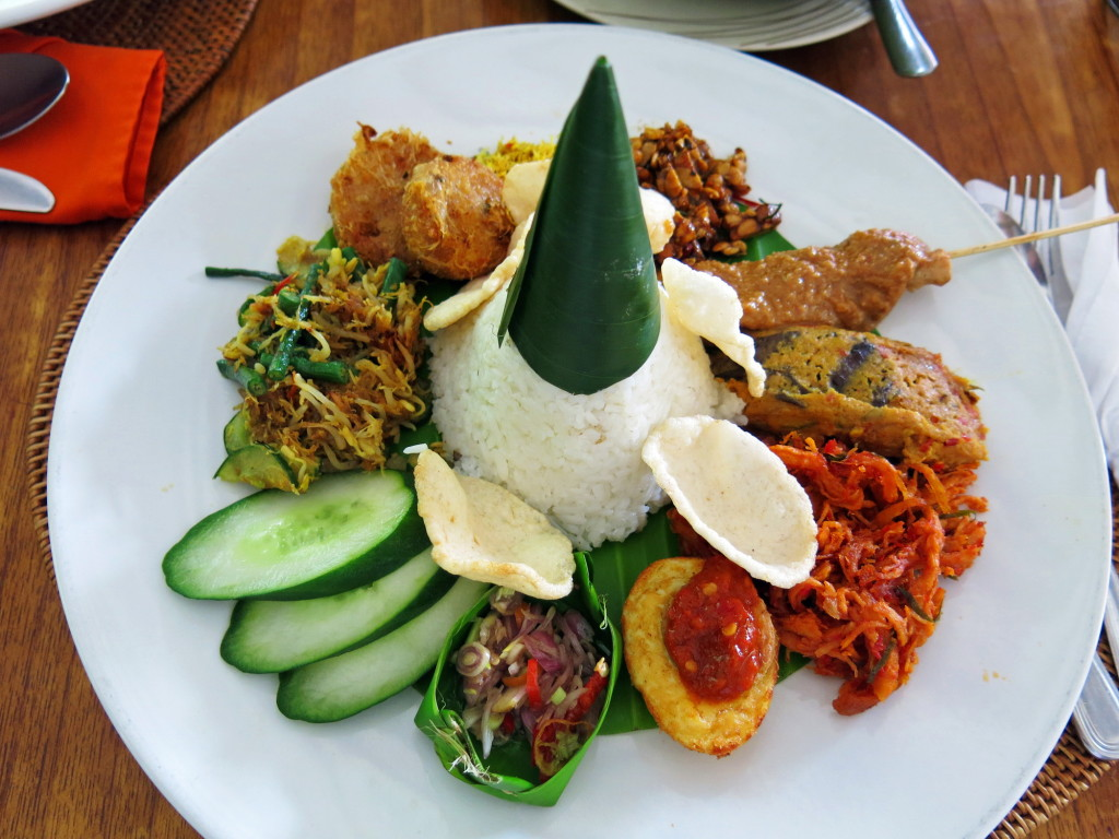 The delicious Nasi Campur at Yulia's Kitchen in Kuta, where we ate lunch 3 times in 4 days.