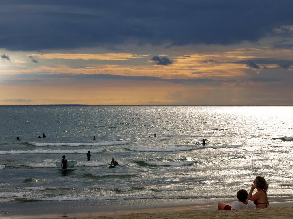 Sunset on Kuta Beach.