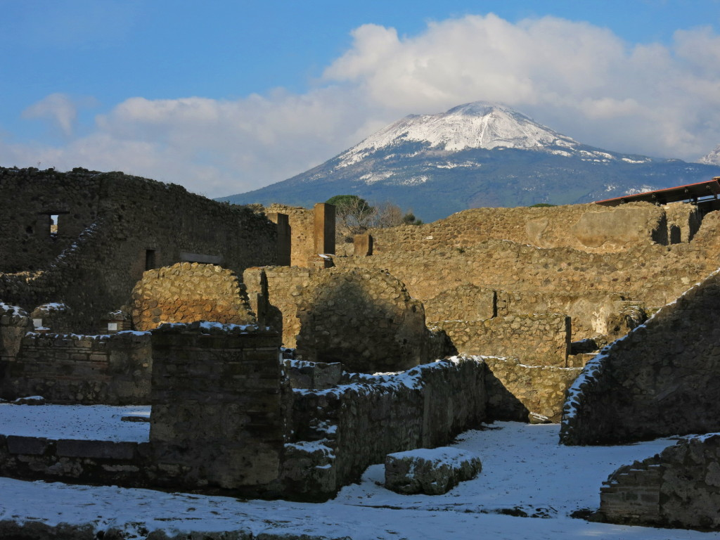 Pompeii and the volcano that put it in the history books.