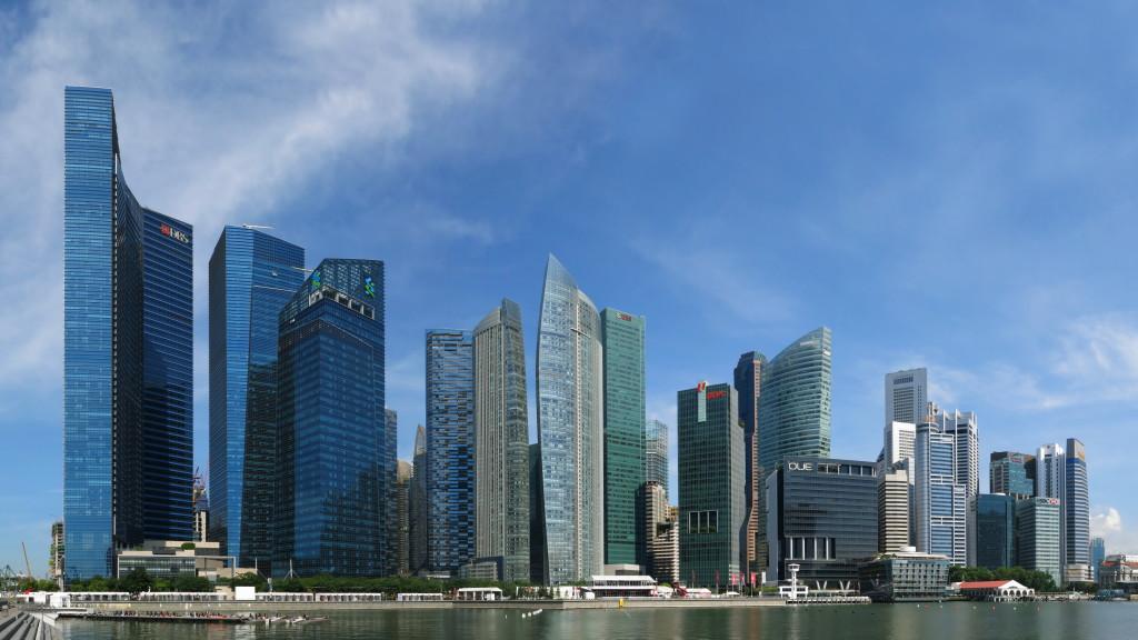 The Marina Bay area of Singapore.