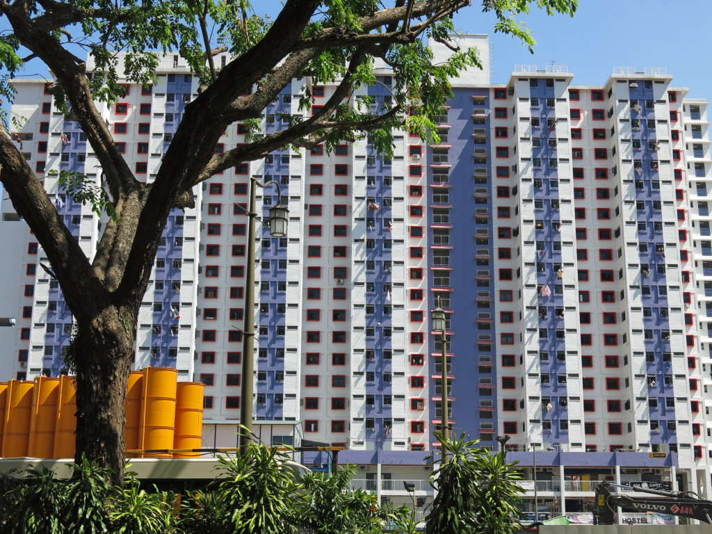 The majority of Singapore's 5 million residents live in government housing projects such as this one.