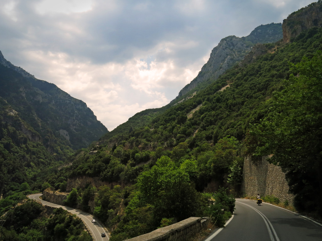 Further down on the descent into the gorge near Mystras.