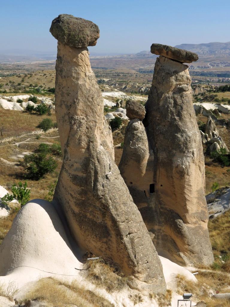 The Three Beauties fairy chimneys at Urgup.