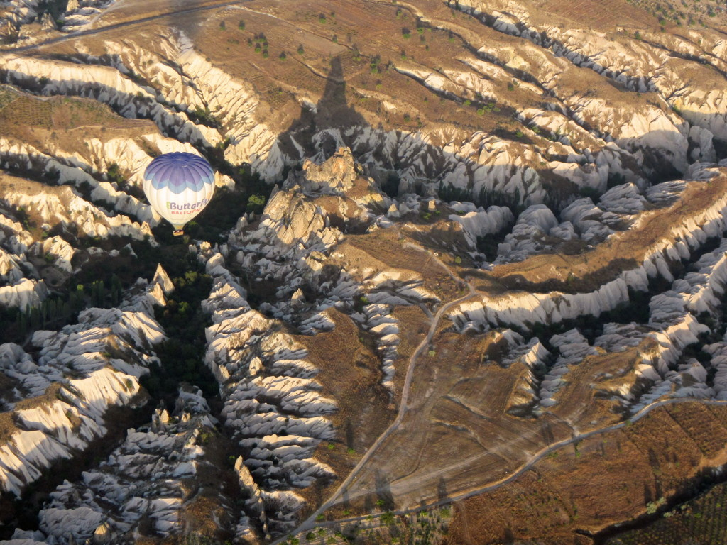 Another Butterfly Balloon over Pigeon Valley in Cappadocia.