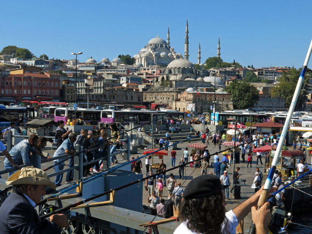 Near the Galata Bridge and spice market in Istanbul.