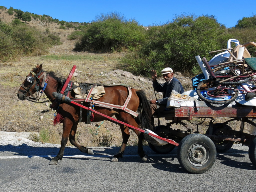 We share the roads with vehicles of all sorts in Turkey.