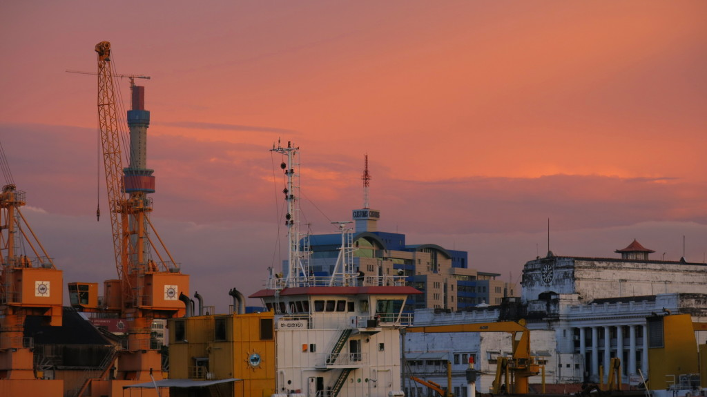 Sunset from Colombo Port.