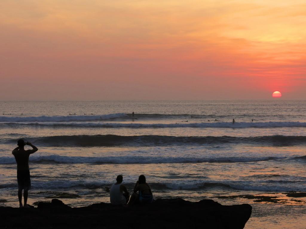 All eyes on the sunset surfers at Batu Bolong at Canggu, Bali.