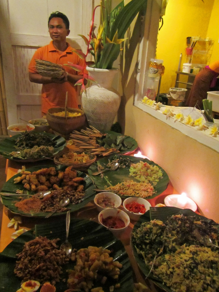 The weekly dinner buffet at Yellow Flower Cafe. We had a standing reservation and are going to miss it.