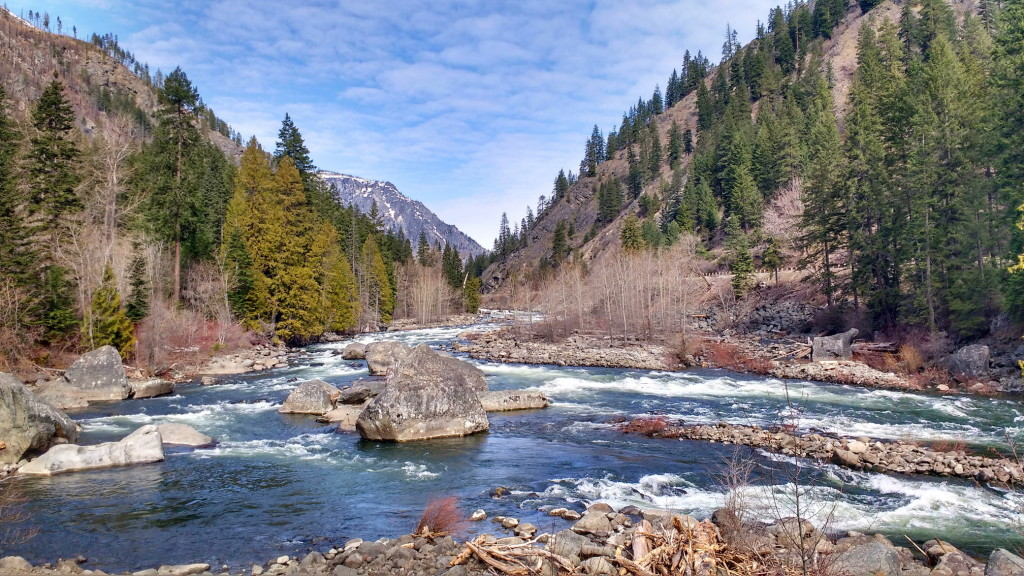 Wenatchee River in spring.