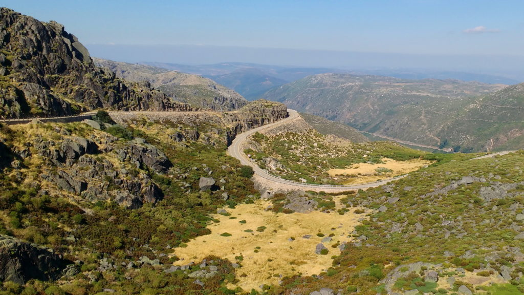 The road back down to Manteigas from the highest point in Portugal (mainland).