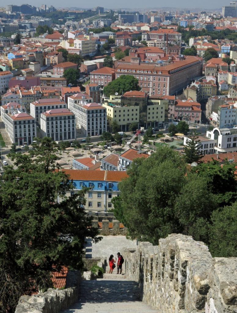 Lisbon castle steps.