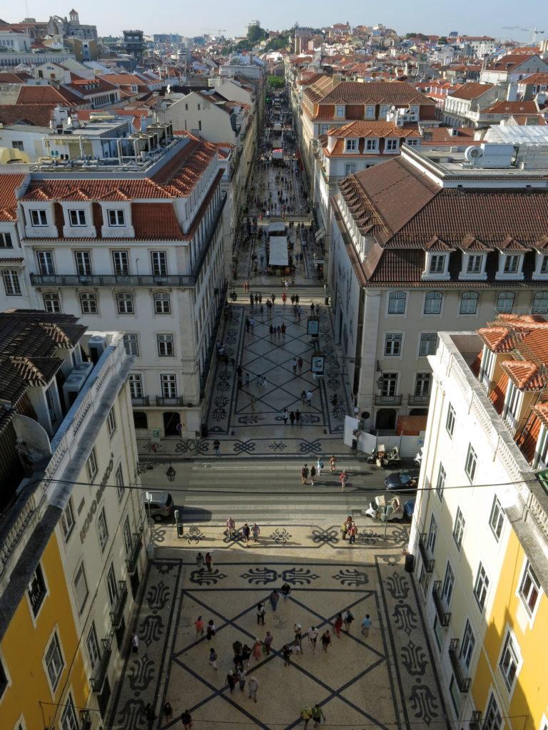 Downtown Lisbon.